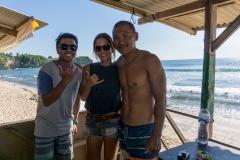 Marcel, Claudia, Tenz @ Balangan Beach